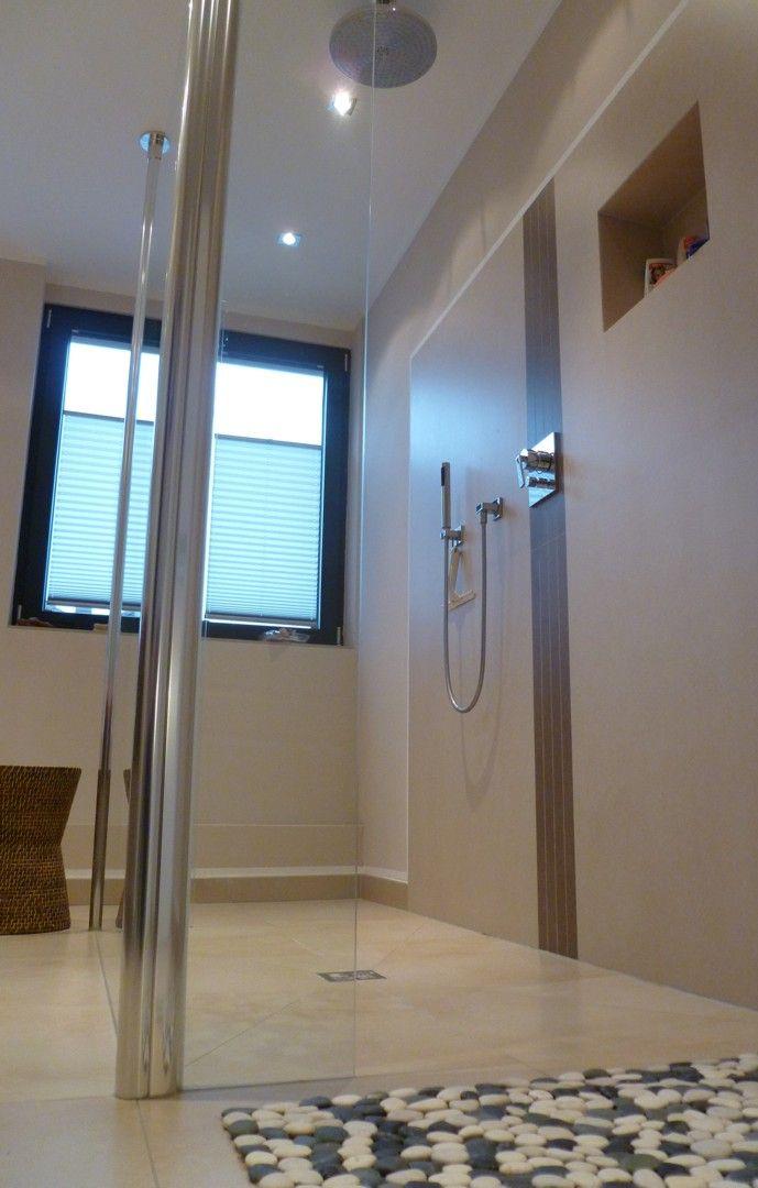 warme sandsteinoptik in der dusche. Black Bedroom Furniture Sets. Home Design Ideas