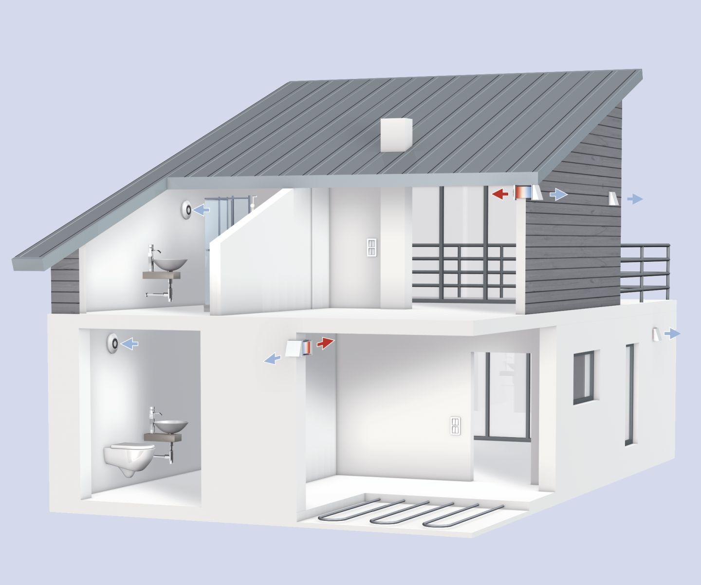 w rmer ckgewinnung auf dem weg zum null energie haus. Black Bedroom Furniture Sets. Home Design Ideas