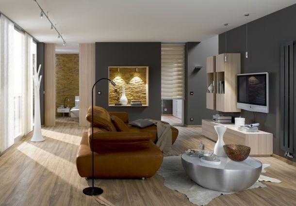Einrichtungsideen wohnzimmer gemütlich braun  Wohnzimmer - einrichten und wohlfühlen - bauemotion.de