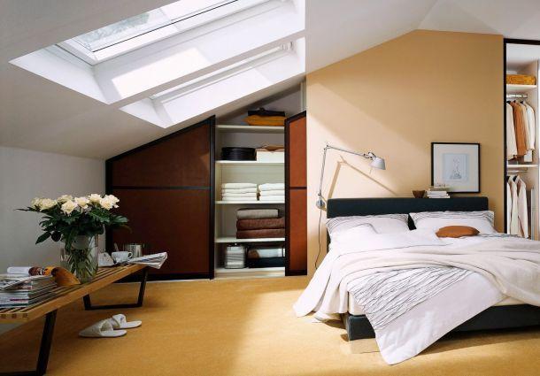 Raumaufteilung: Leichte Wände und Schränke unter Schrägen ...