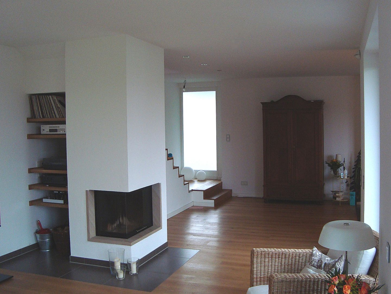 gem tliches energiesparhaus mit kamin. Black Bedroom Furniture Sets. Home Design Ideas