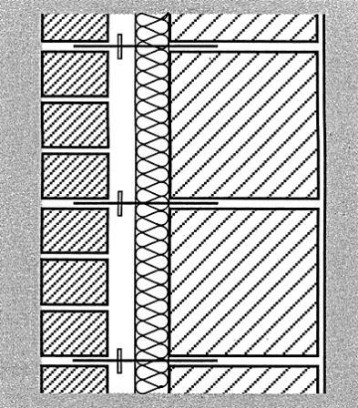 Zweischaliges mauerwerk mit luftschicht